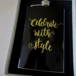 Flask CELEBRATE WITH STYLE, Stainless Steel 8 oz
